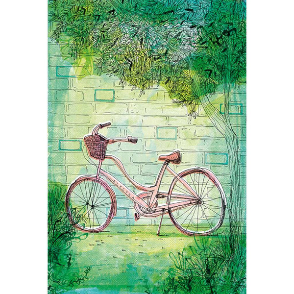 Happy Bike Print, by Paula Mills. Australian Art Prints. Green Door Decor. www.greendoordecor.com.au