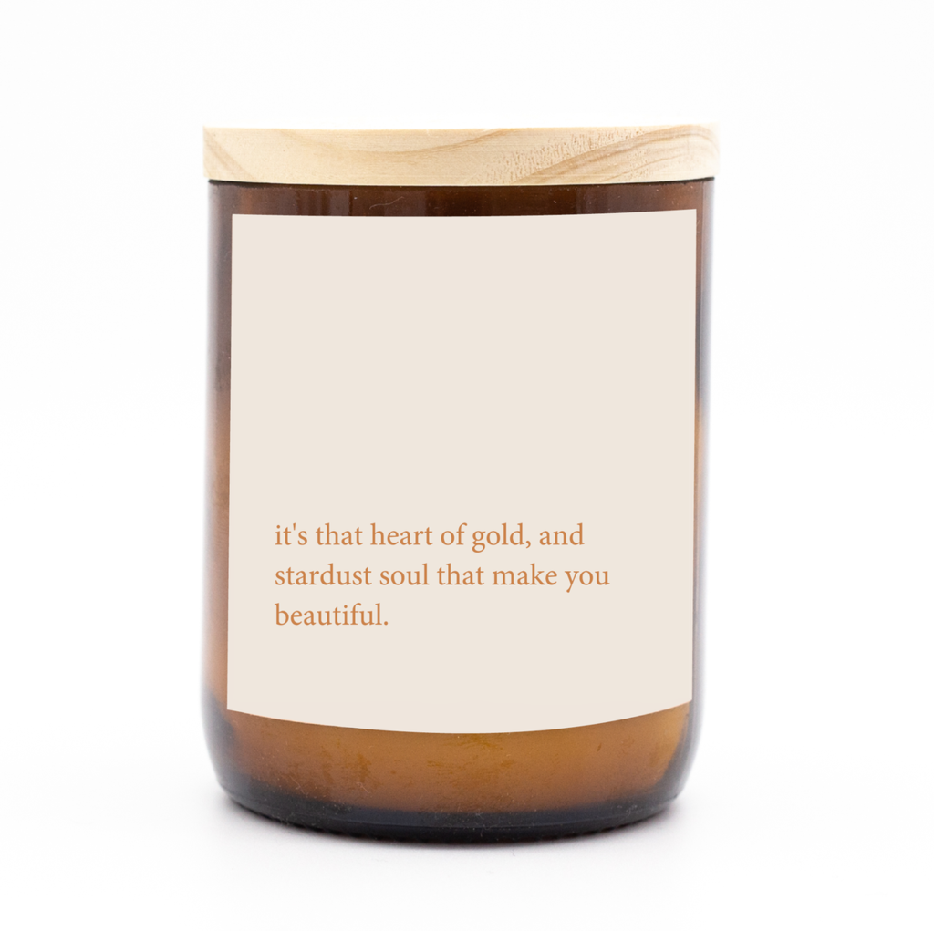 Heart of Gold Quote Candle. Australian Art Prints and Homewares. Green Door Decor. www.greendoordecor.com.au