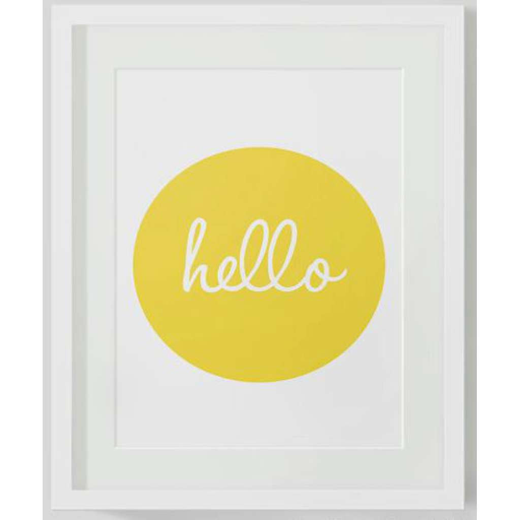 Hello, by Black & Type. Australian Art Prints. Green Door Decor.  www.greendoordecor.com.au
