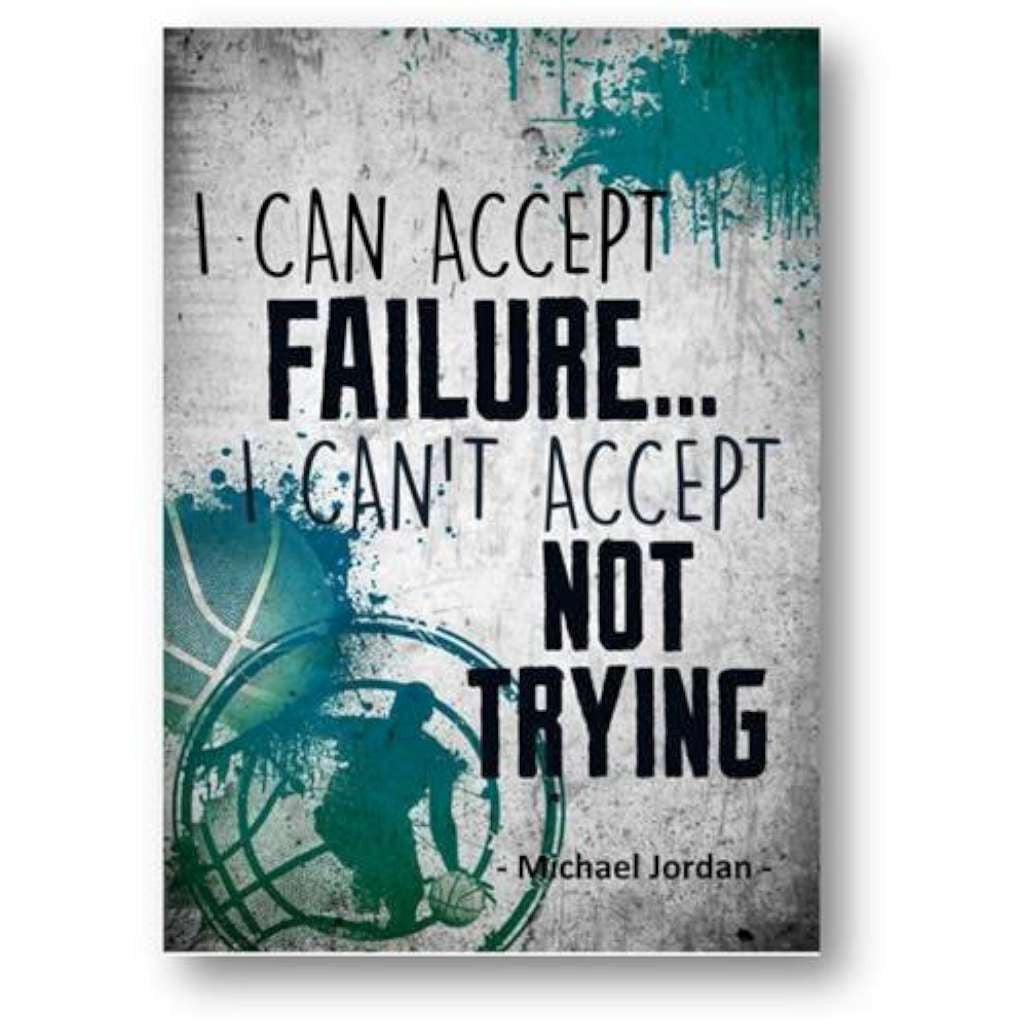 I Can Accept Failure - Michael Jordan