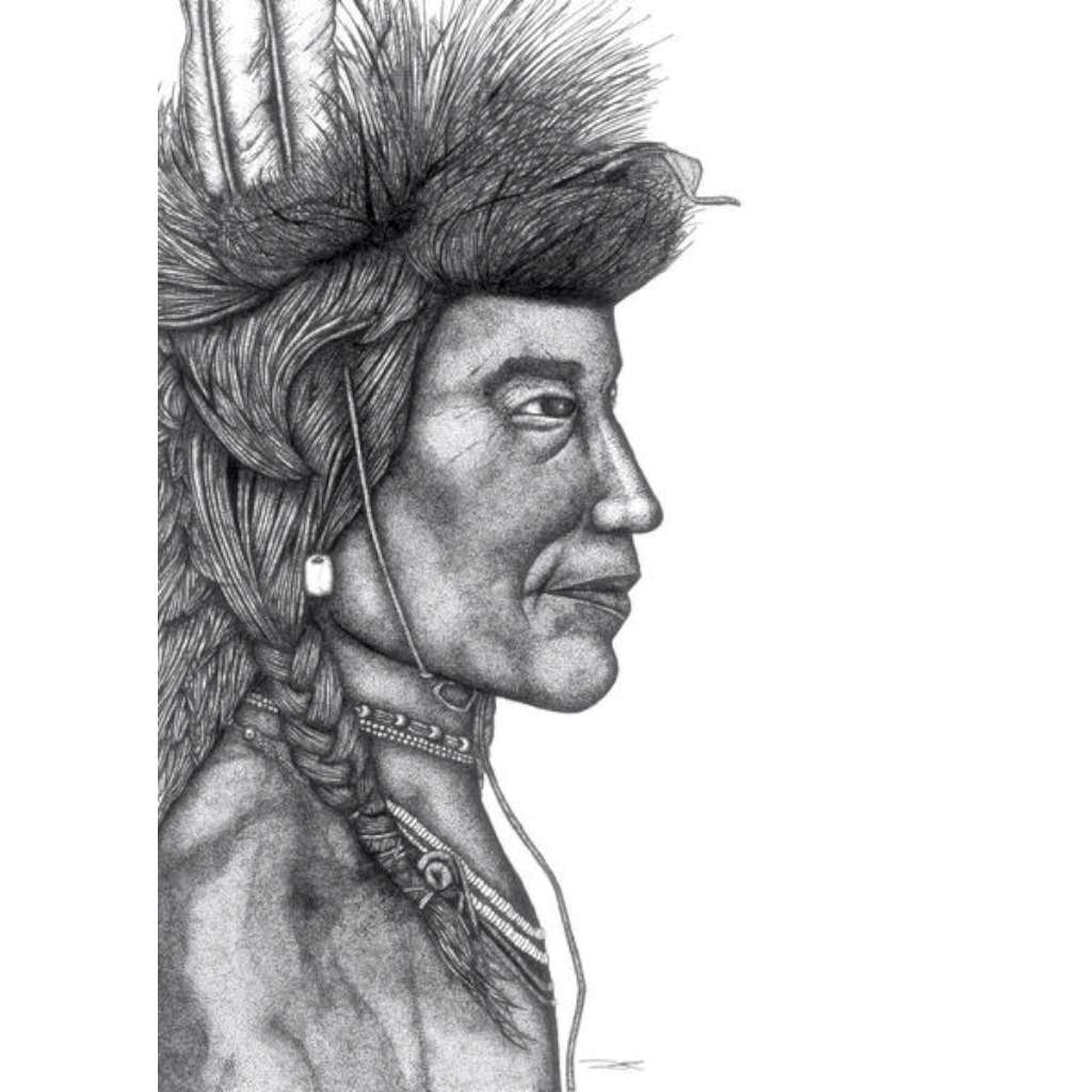 Dots by Donna Card - Indian Chief