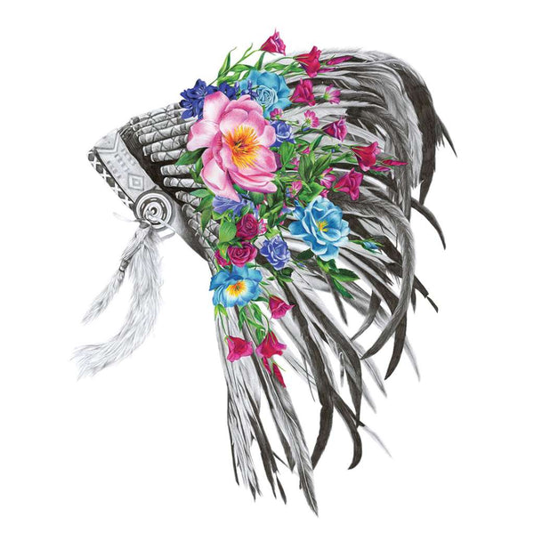 Indian Floral Headdress