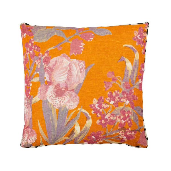 Iris Saffron Multi Cushion. Australian Art Prints and Homewares. Green Door Decor. www.greendoordecor.com.au