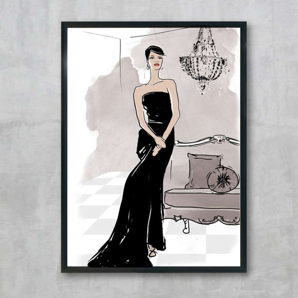 Juliette - Black, by Skart & Savvy Designs. Australian Art Prints. Green Door Decor.  www.greendoordecor.com.au