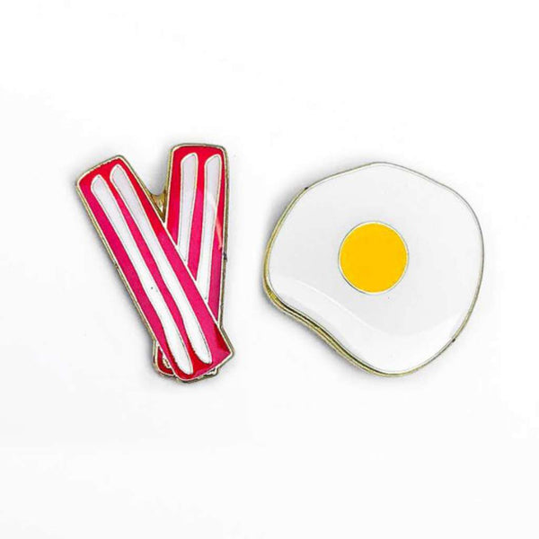 HMM Lapel Pin - Bacon & Egg duo