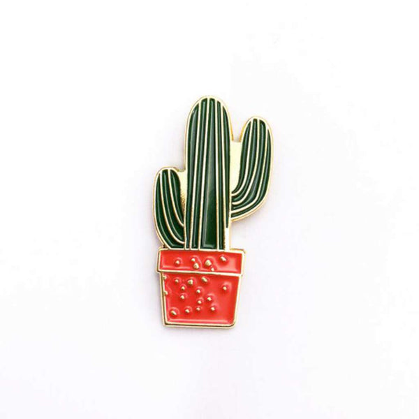 HMM Lapel Pin - Cactus Striped in Terracotta Pot