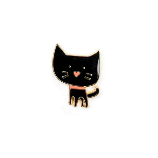 HMM Lapel Pin - Kitty (black)