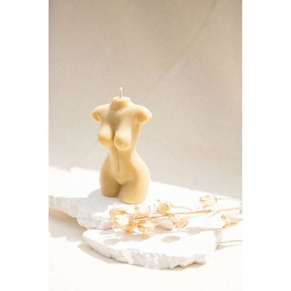 Little Lady Beige Female Body Candle. Australian Art Prints and Homewares. Green Door Decor. www.greendoordecor.com.au
