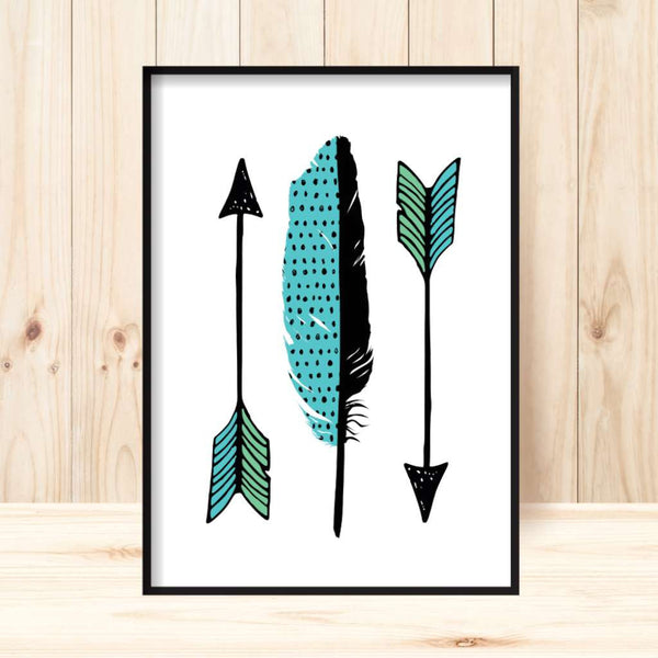 'Little Arrows' Print