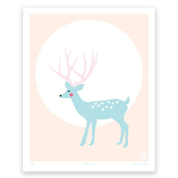Little Deer, by Printspace. Australian Art Prints. Green Door Decor.  www.greendoordecor.com.au