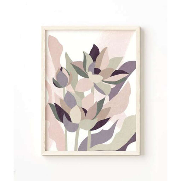 Lotus Abstract print, by Lamai Anne. Australian Art Prints. Green Door Decor. www.greendoordecor.com.au