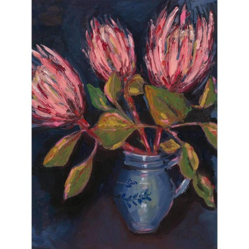 Proteas in Blue Pot Limited Edition