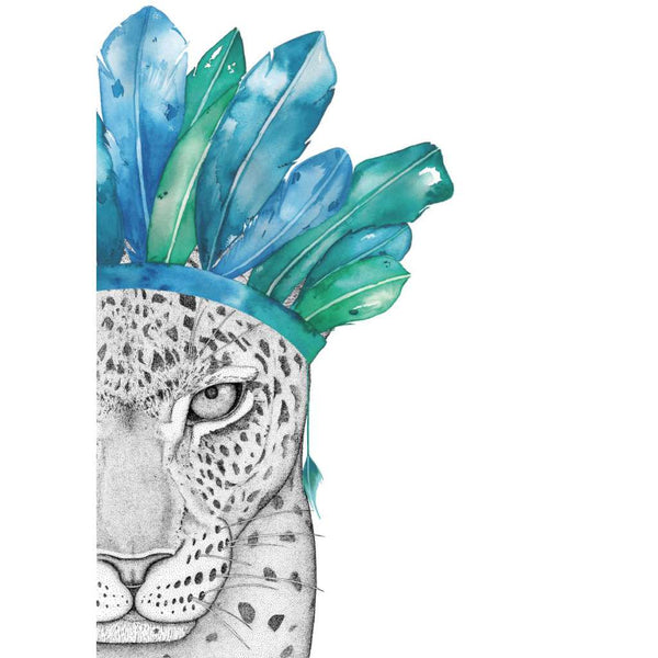 Luca the Leopard with Feather Crown (Limited Edition)
