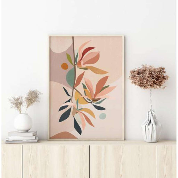 Magnolia Abstract print, by Lamai Anne. Australian Art Prints. Green Door Decor. www.greendoordecor.com.au