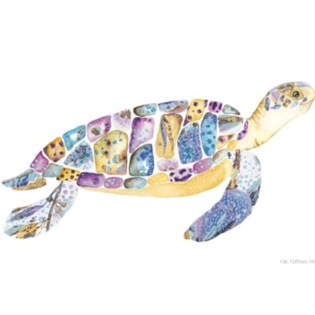 Marley the Sea Turtle print, by Kylie Ferriday. Australian Art Prints. Green Door Decor.  www.greendoordecor.com.au