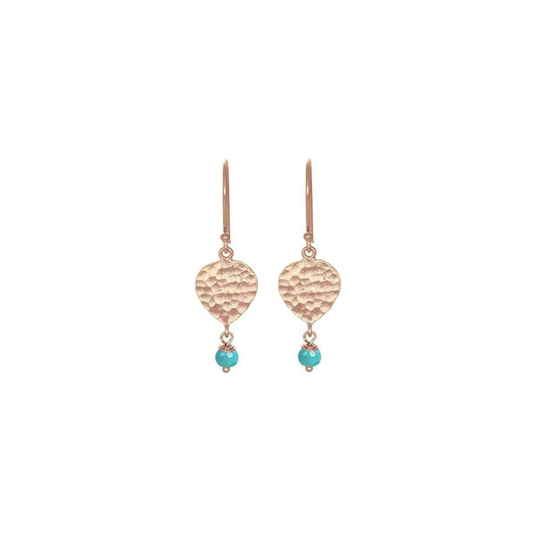 Maya Teardrop Earring Turquoise Rose Gold by Nicole Fendel. Australian Art Prints and Homewares. Green Door Decor. www.greendoordecor.com.au