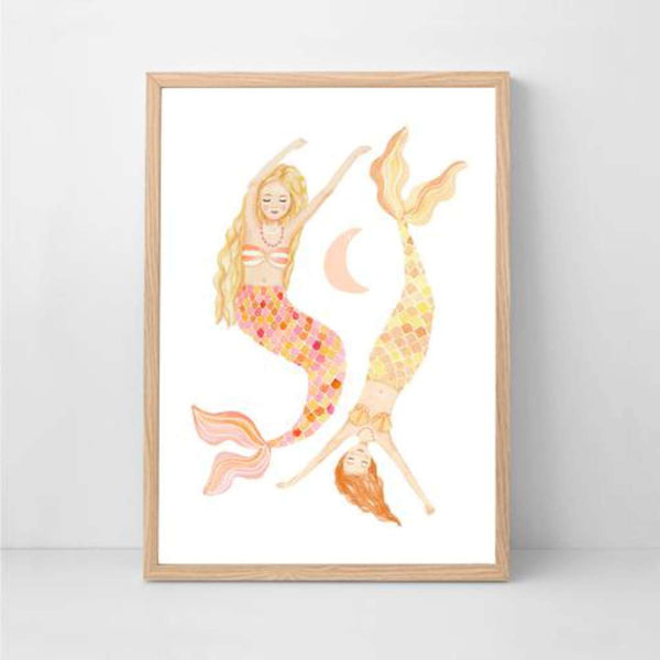 Mermaid Dreams Print by Sailah Lane. Australian Art Prints. Green Door Decor. www.greendoordecor.com.au