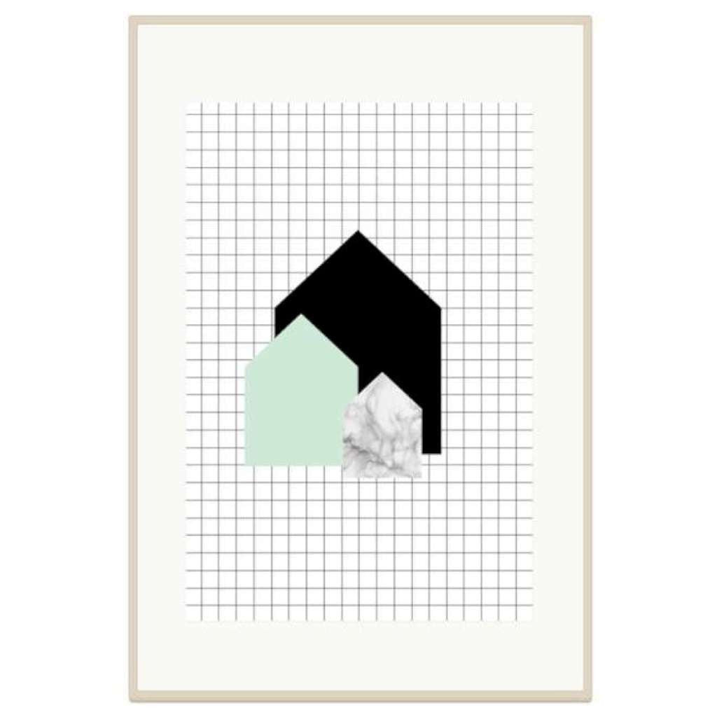 Mini House - Mint & Marble