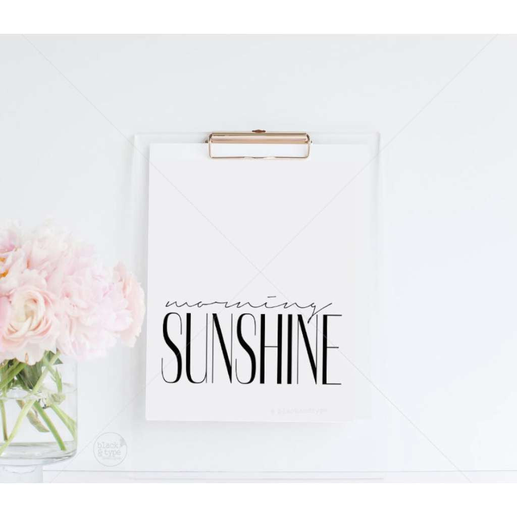 Morning Sunshine, by Black & Type. Australian Art Prints. Green Door Decor.  www.greendoordecor.com.au