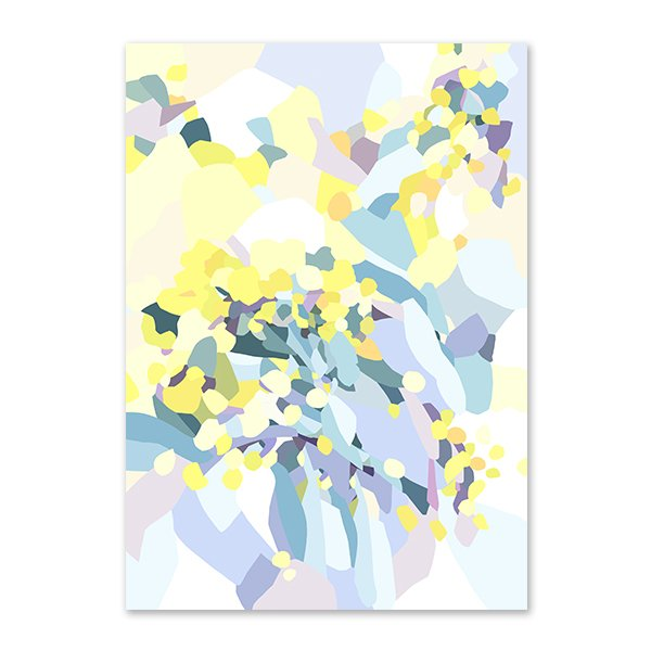 Abstract Golden Wattle Print (Limited Edition)