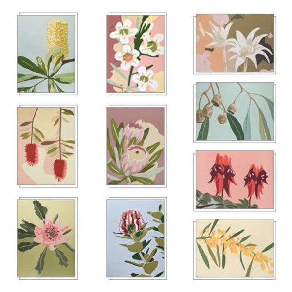 Native Glory Note Card set by Kim Haines. Australian Art Prints. Green Door Decor.  www.greendoordecor.com.au