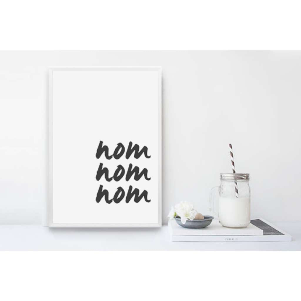 Nom Nom Nom 3, by Black & Type. Australian Art Prints. Green Door Decor.  www.greendoordecor.com.au