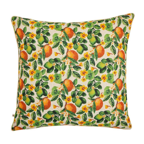 Oranges Multi Bonnie and Neil Cushion. Australian Art Prints and Homewares. Green Door Decor. www.greendoordecor.com.au