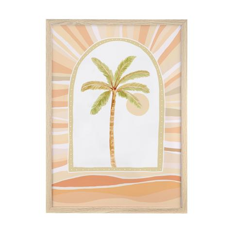 Palm Trees - Peachy print framed, by Sailah Lane. Australian Art Prints. Green Door Decor. www.greendoordecor.com.au