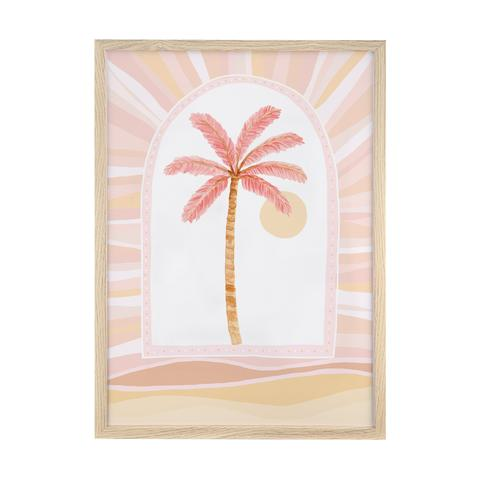 Palm Trees - Pink print framed, by Sailah Lane. Australian Art Prints. Green Door Decor. www.greendoordecor.com.au
