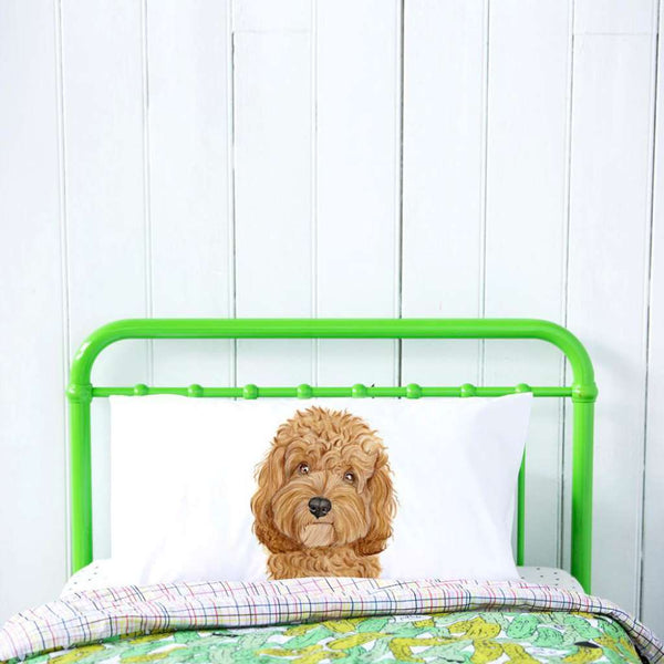 Carrie the Cavoodle pillow case by For Me By Dee. Australian Art Prints. Green Door Decor.  www.greendoordecor.com.au