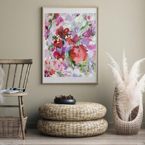 Pretty in Pink Print by Amber Gittins. Australian Art Prints. Green Door Decor. www.greendoordecor.com.au