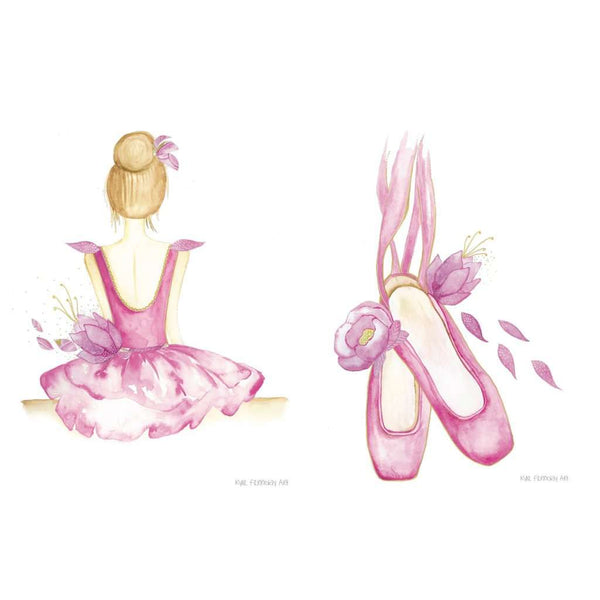 Prima Ballerina Collection - Set of 2 prints, by Kylie Ferriday. Australian Art Prints. Green Door Decor.  www.greendoordecor.com.au