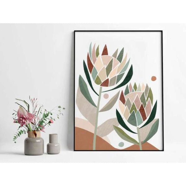 Protea Abstract print, by Lamai Anne. Australian Art Prints. Green Door Decor. www.greendoordecor.com.au