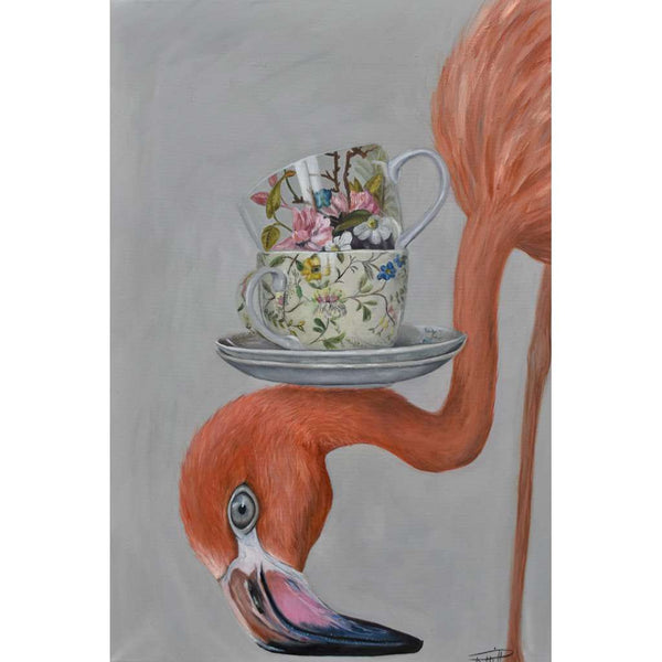 Quirky Birds Only High Tea Flamingo