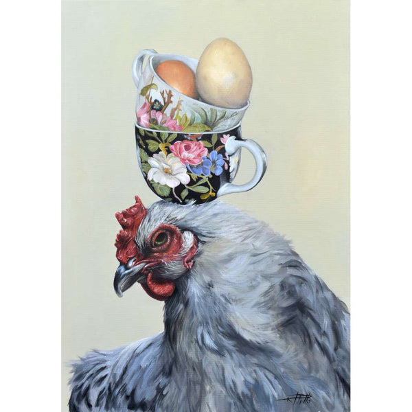 Quirky Birds Only High Tea Hen