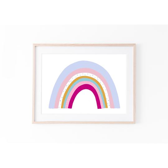 Rainbow - Bali Brights print, by My Hidden Forest. Australian Art Prints. Green Door Decor.  www.greendoordecor.com.au