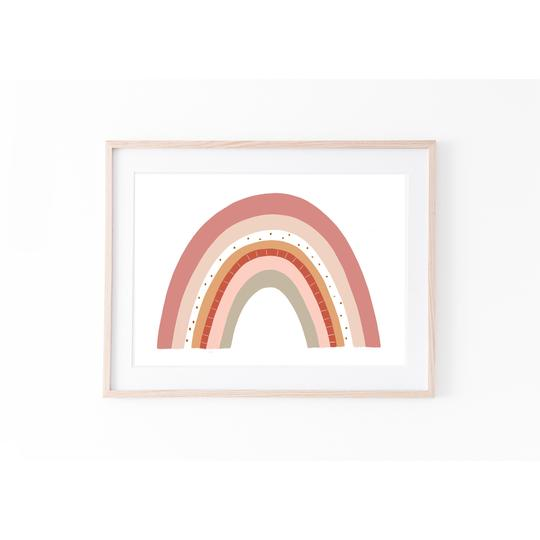 Rainbow - Earthy Vibes print, by My Hidden Forest. Australian Art Prints. Green Door Decor.  www.greendoordecor.com.au
