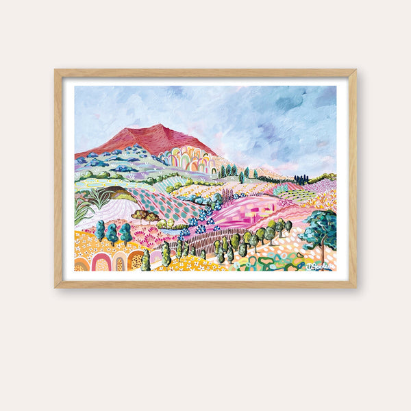 Red Rock Fine Art Print - framed - by Daniela Fowler Art. Australian Art Prints. Green Door Decor. www.greendoordecor.com.au