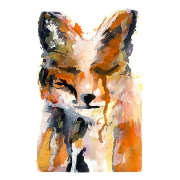 Sad Fox by Grotti Lotti. Australian Art Prints. Green Door Decor.  www.greendoordecor.com.au