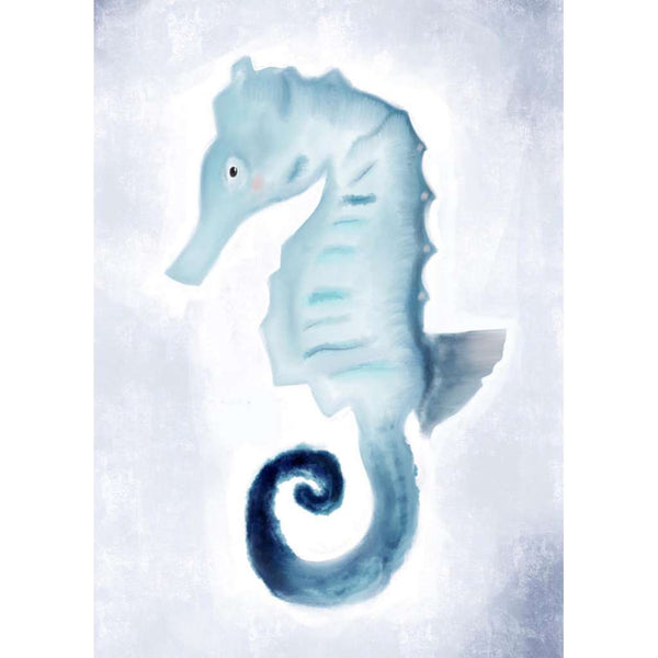 Under The Sea Collection - Sam the Seahorse | Green Door Decor | Art Prints | greendoordecor.com.au