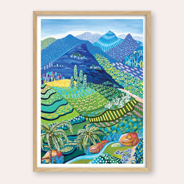 Sapa Print - framed - by Daniela Fowler Art. Australian Art Prints. Green Door Decor. www.greendoordecor.com.au