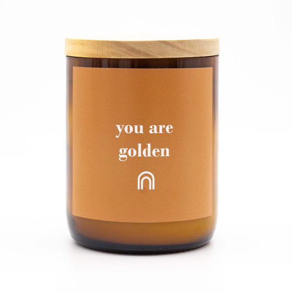 You Are Golden Happy Days Candle. Australian Art Prints and Homewares. Green Door Decor. www.greendoordecor.com.au