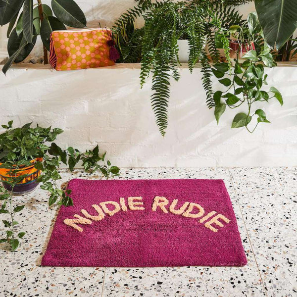 Tula Nudie Bathmat Boysenberry by Sage and Clare. Australian Art Prints and Homewares. Green Door Decor. www.greendoordecor.com.au