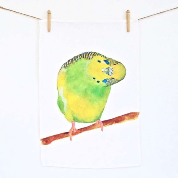 Tea Towel - Berty the Budgie