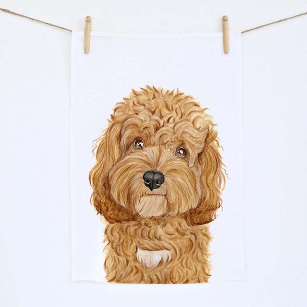 Carrie the Cavoodle by For Me By Dee. Australian Art Prints. Green Door Decor.  www.greendoordecor.com.au