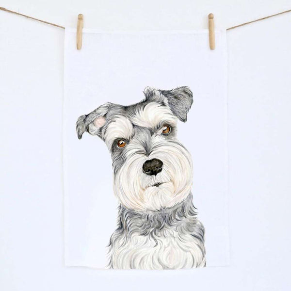 Tea Towel - Chloe the Schnauzer