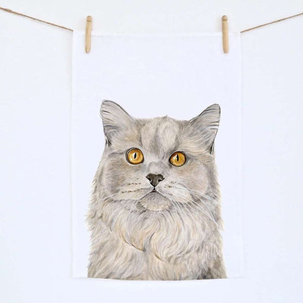 Tea Towel - Otto the British Short Hair Cat