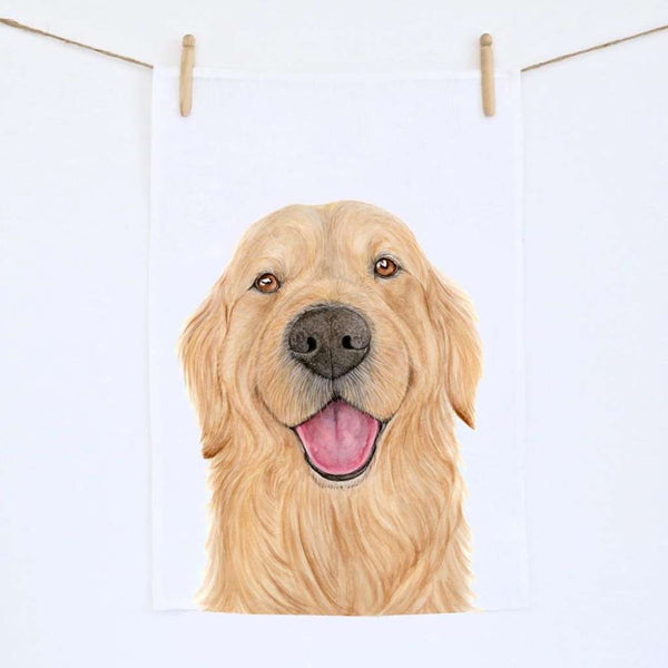Tea Towel - Sid the Golden Retriever