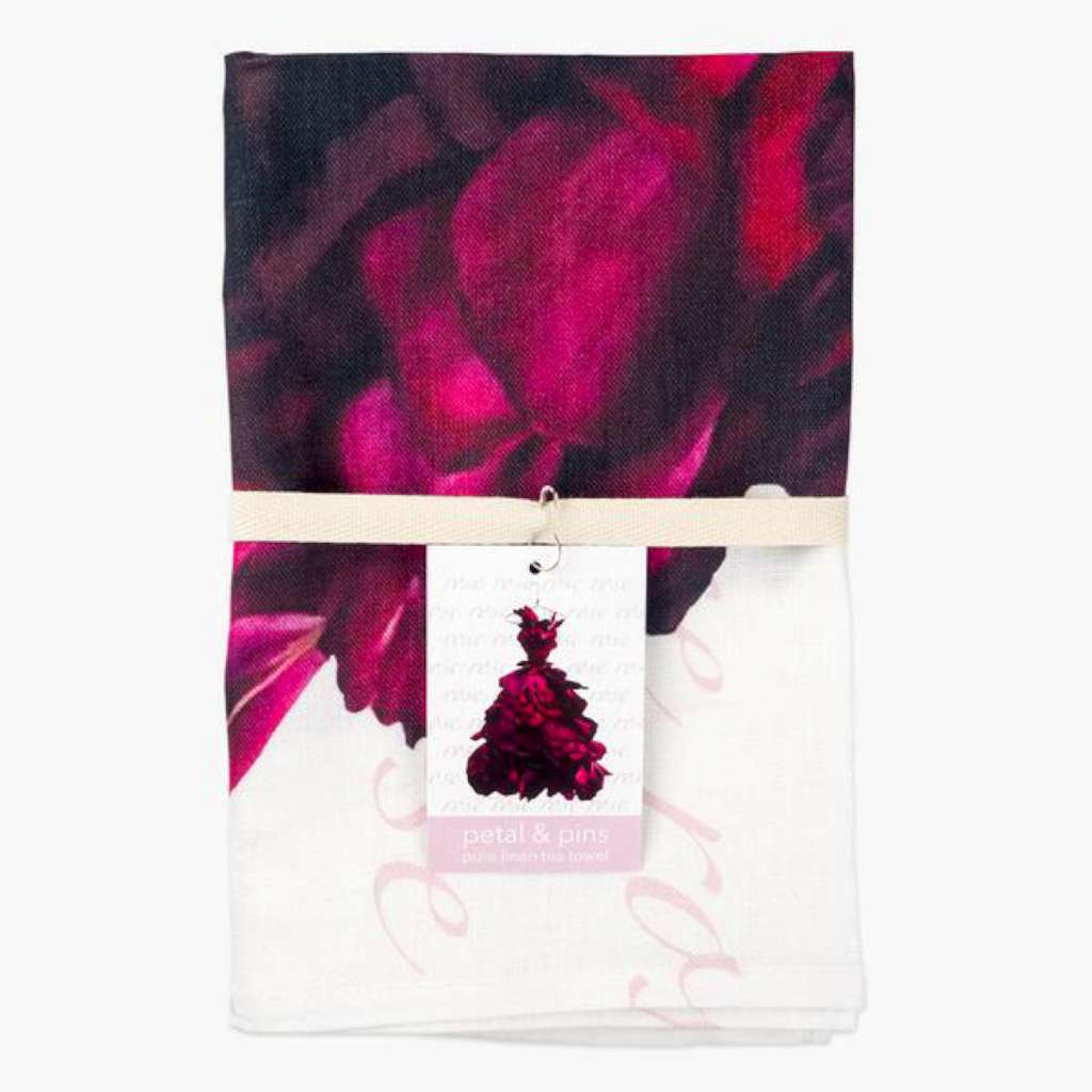 Tea Towel - Red Wine Rose Gown