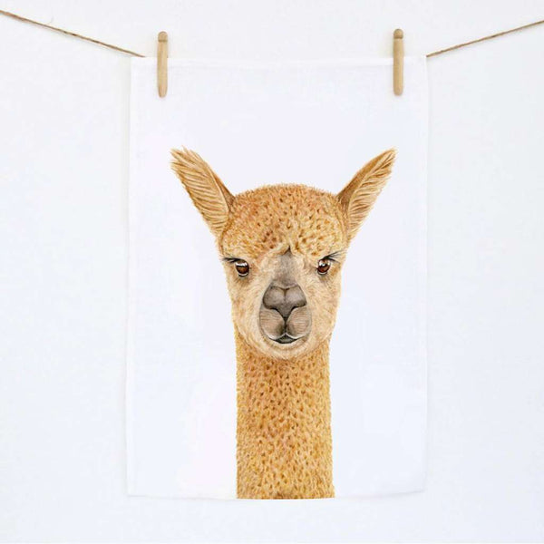 Tea Towel - Alice the Alpaca